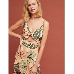 NWT!! Anthropologie Farm Rio  Palms Dress Size MP